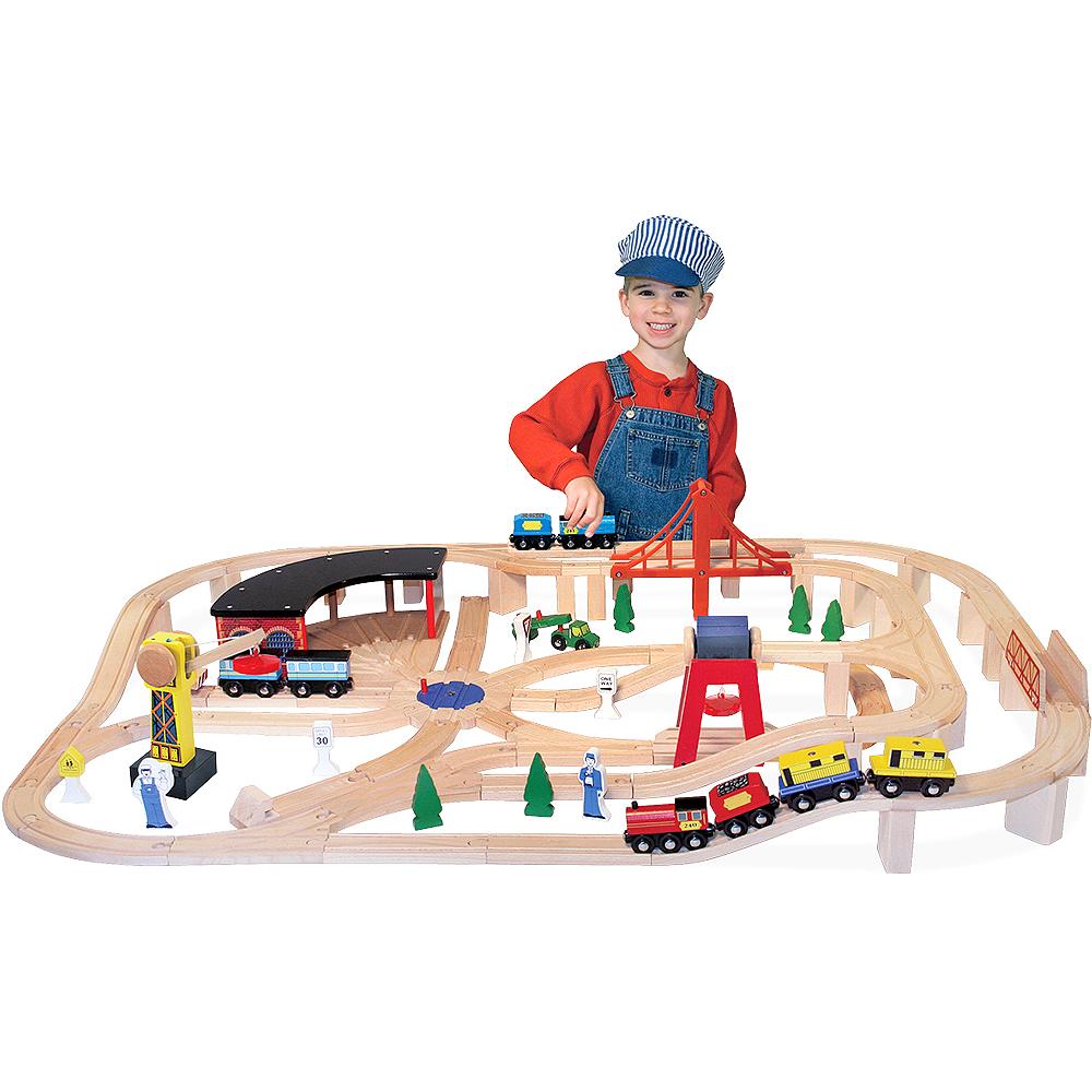 Melissa & Doug Deluxe Railway Train Set Image #1