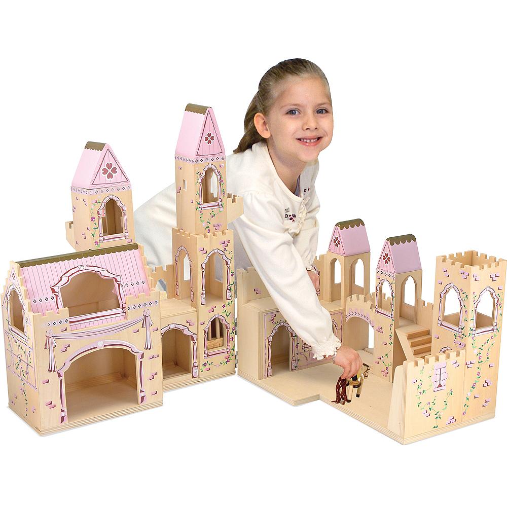 Melissa & Doug Folding Princess Castle Dollhouse with Drawbridge &Turrets Image #2