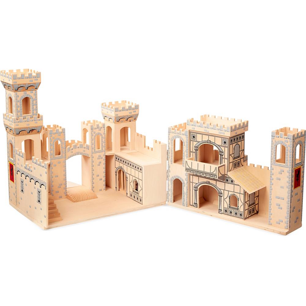Melissa & Doug Deluxe Folding Medieval Castle Image #2