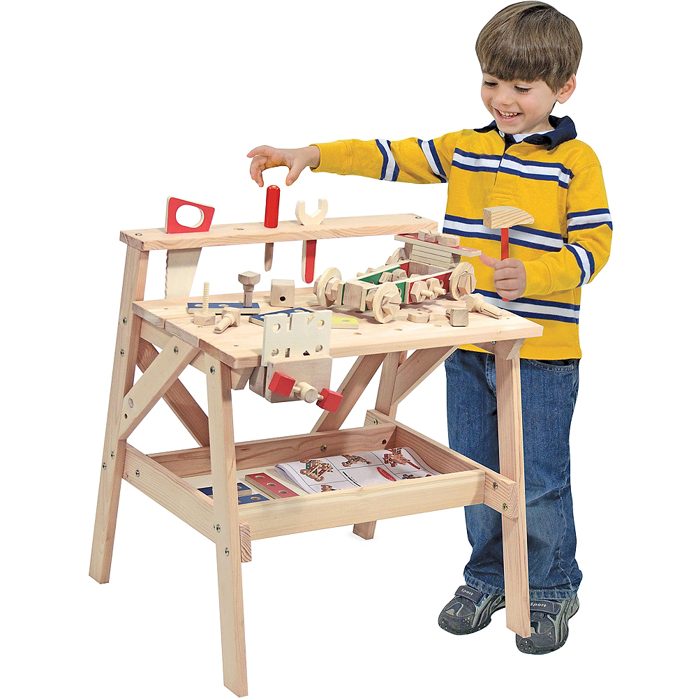 Melissa & Doug Solid Wood Project Workbench Play Building Set Image #1