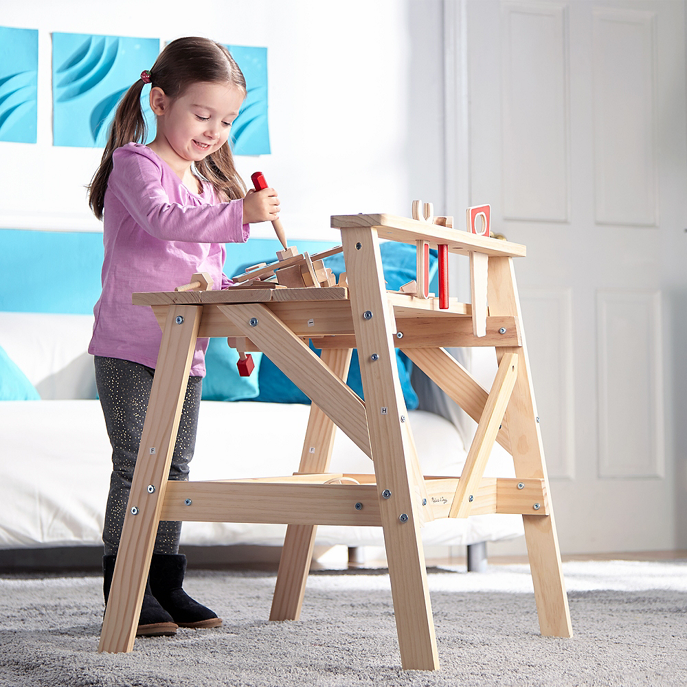 Melissa & Doug Solid Wood Project Workbench Play Building Set Image #3
