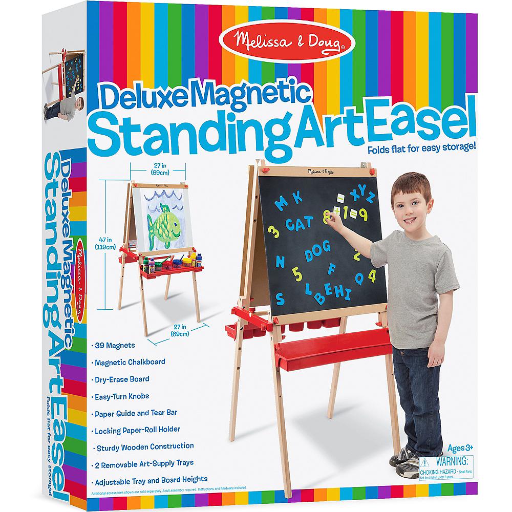 Melissa & Doug Deluxe Magnetic Standing Art Easel Image #1
