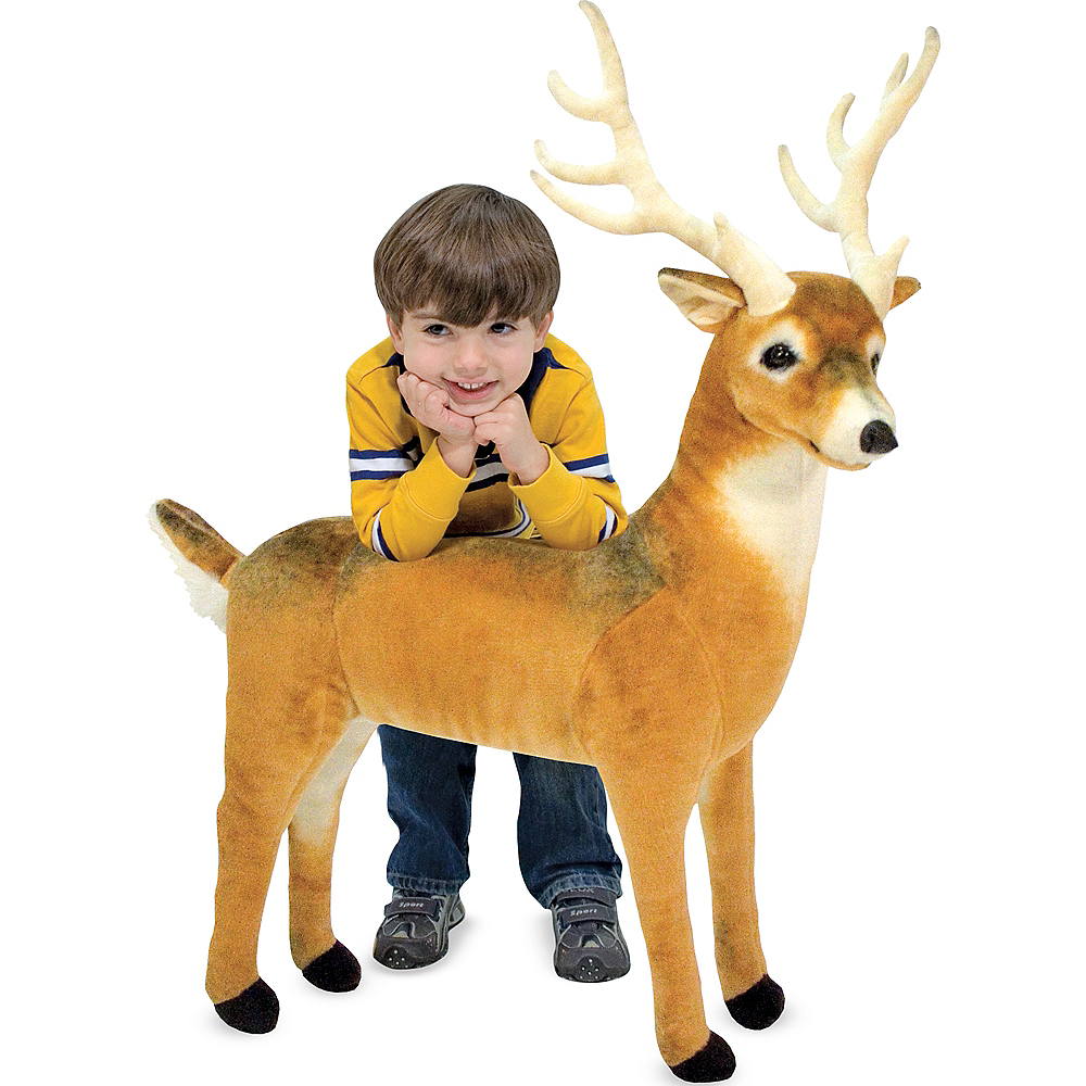 Melissa & Doug Giant Deer Plush Image #2