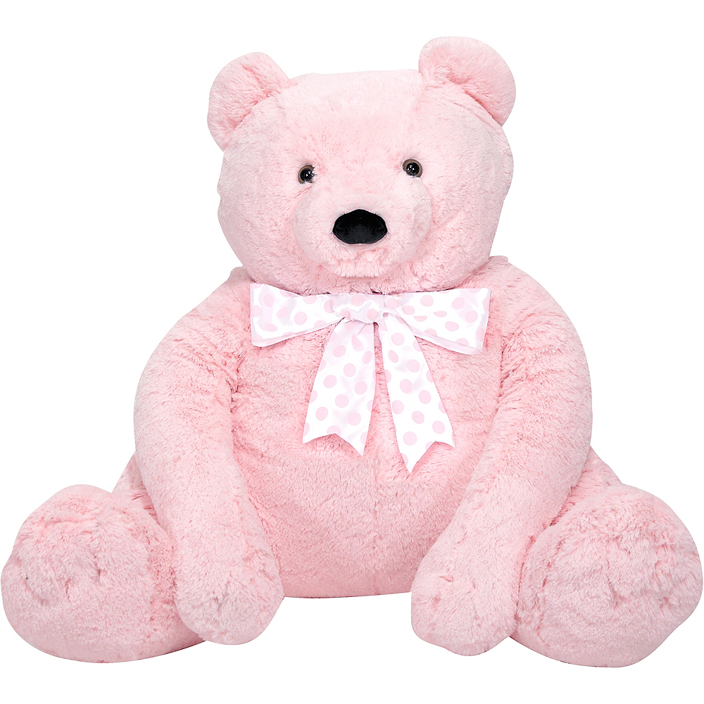 Melissa & Doug Giant Pink Teddy Bear Plush Image #1