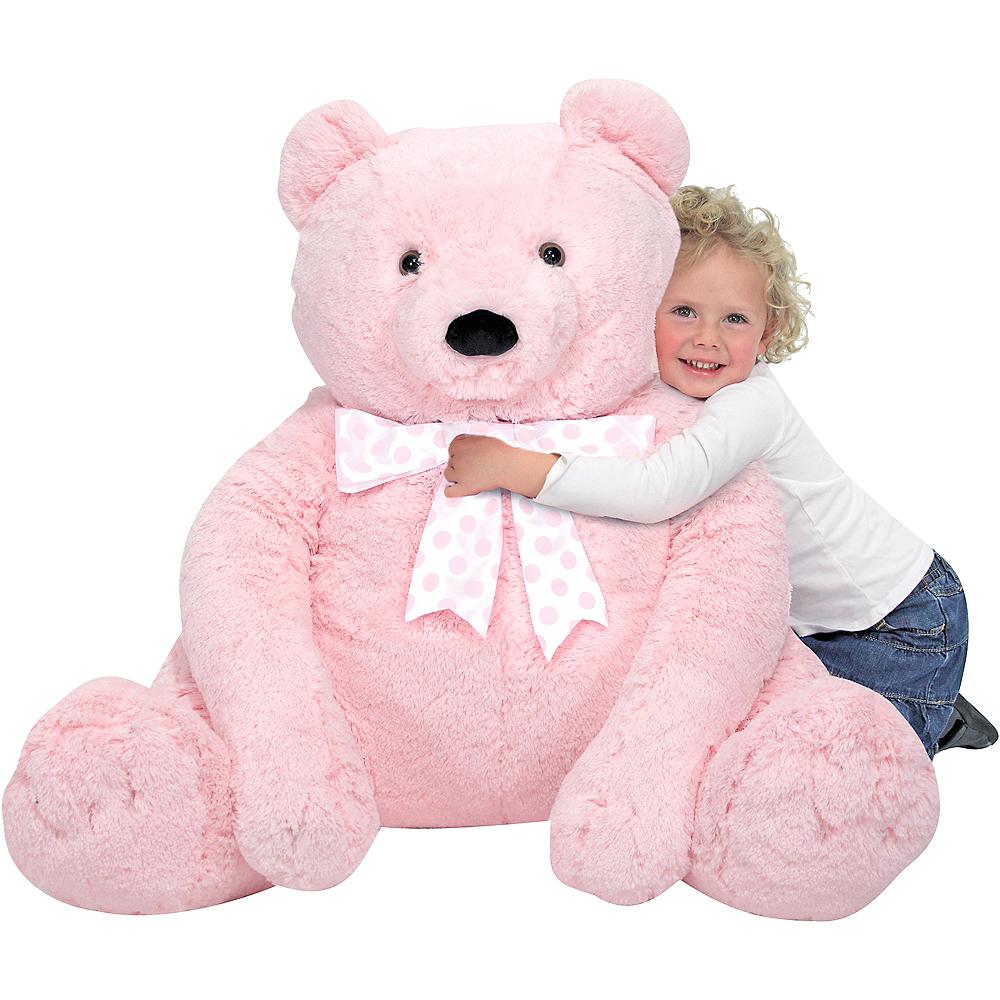 Melissa & Doug Giant Pink Teddy Bear Plush Image #2