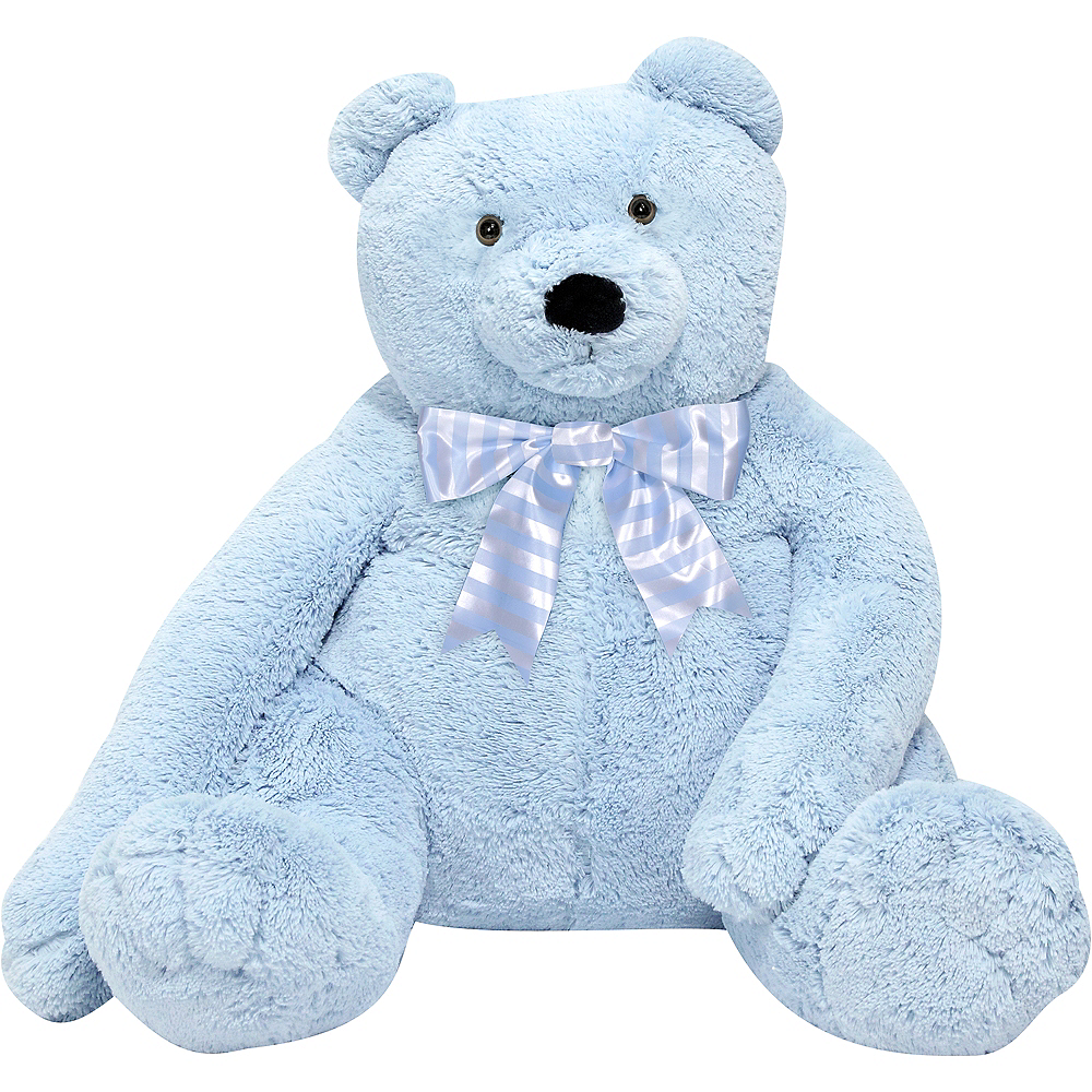 Melissa & Doug Giant Blue Teddy Bear Plush Image #1