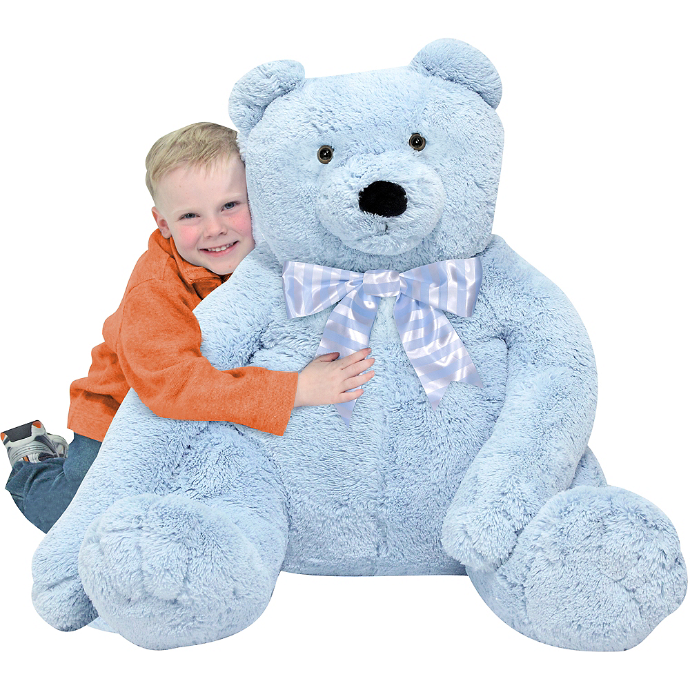 Melissa & Doug Giant Blue Teddy Bear Plush Image #2
