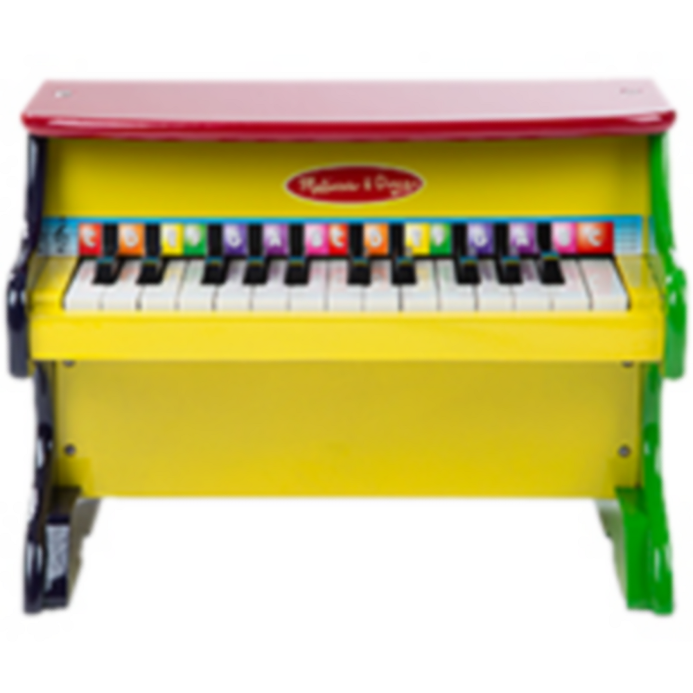 melissa & doug learn-to-play piano with color-coded songbook