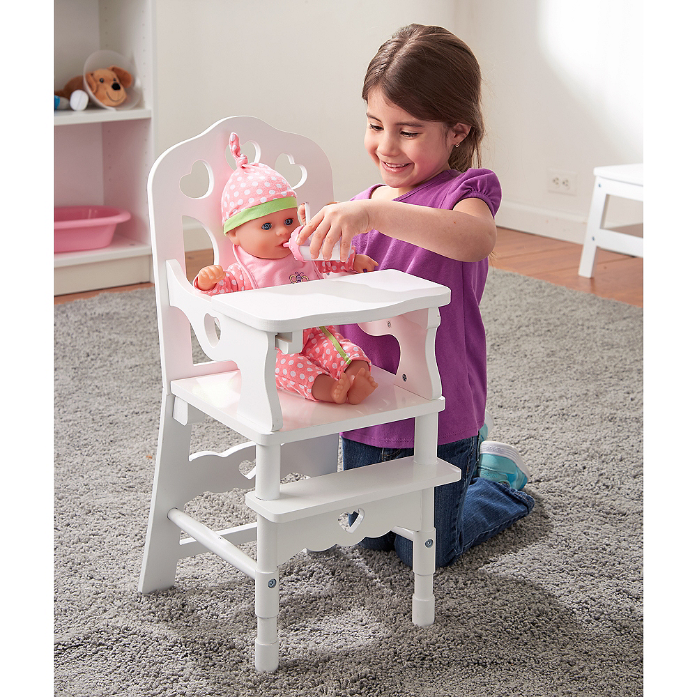 Melissa & Doug White Doll High Chair with Tray Image #2