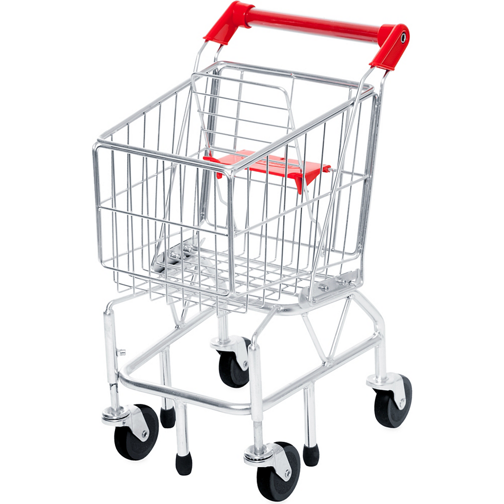 Melissa & Doug Toy Shopping Cart with Metal Frame Image #1