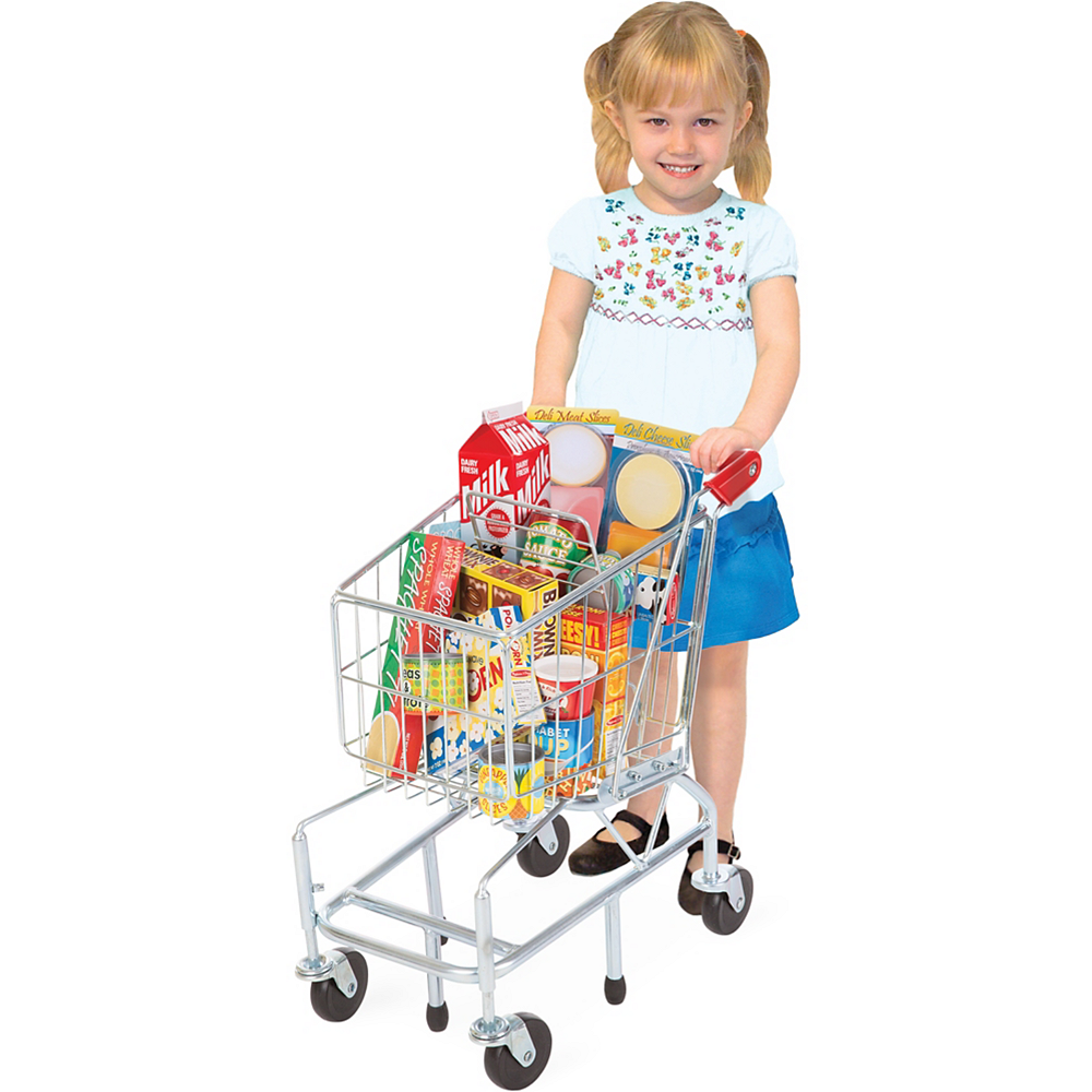 Melissa & Doug Toy Shopping Cart with Metal Frame Image #2