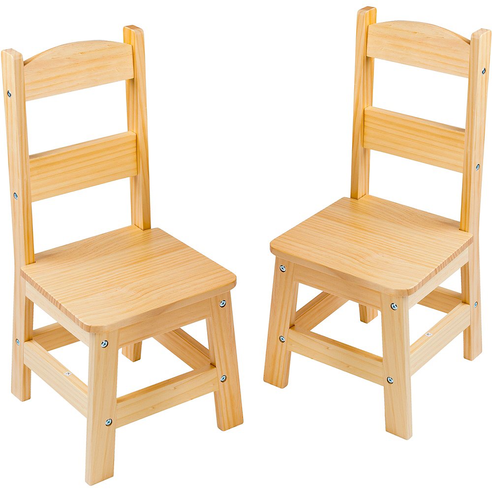 Melissa & Doug Solid Wood Chairs 2ct Image #1