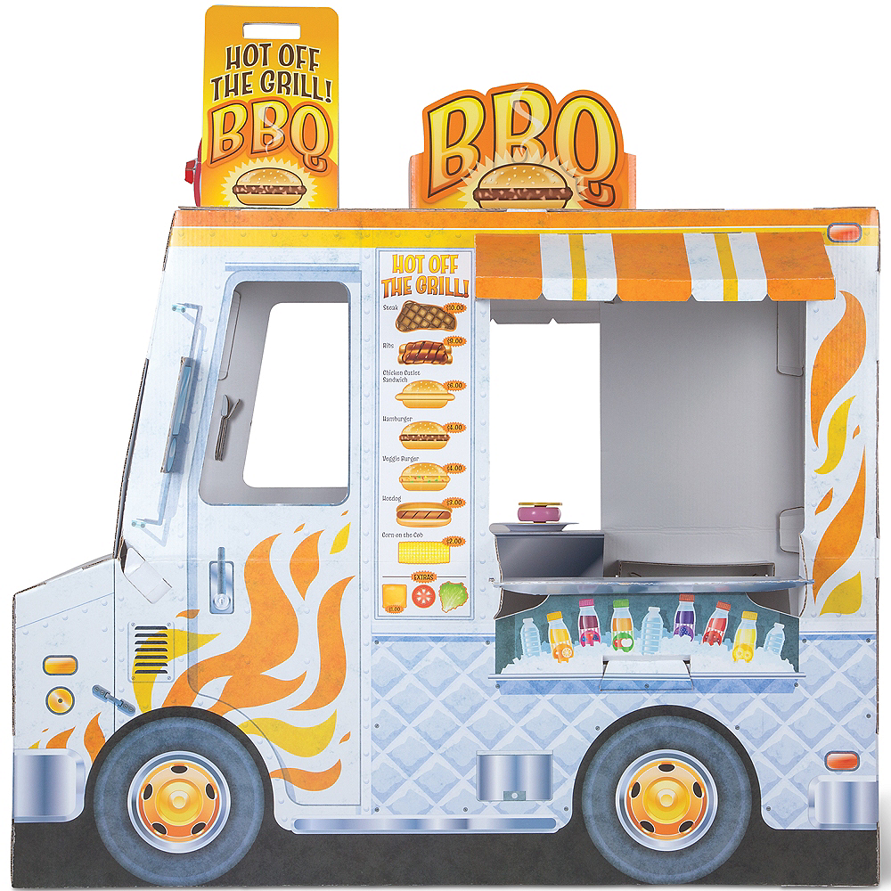 Melissa & Doug Food Truck Indoor Corrugate Playhouse Image #1
