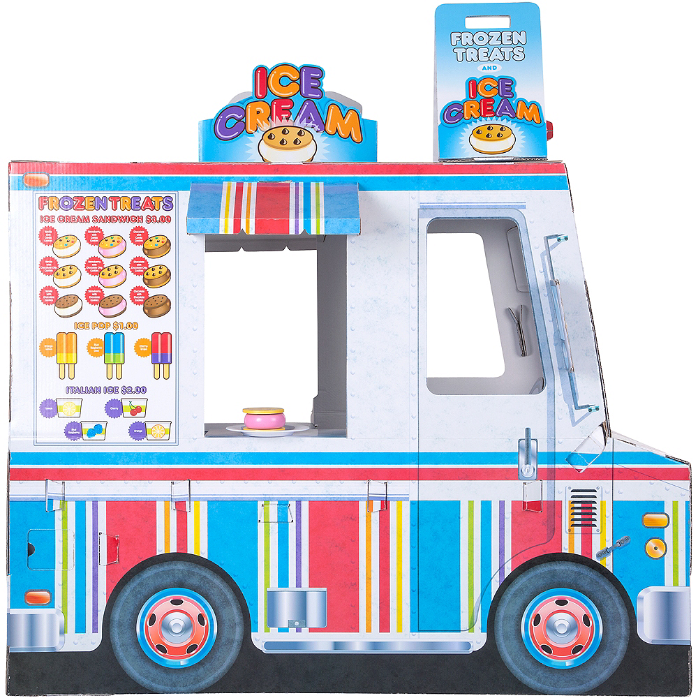 Melissa & Doug Food Truck Indoor Corrugate Playhouse Image #2