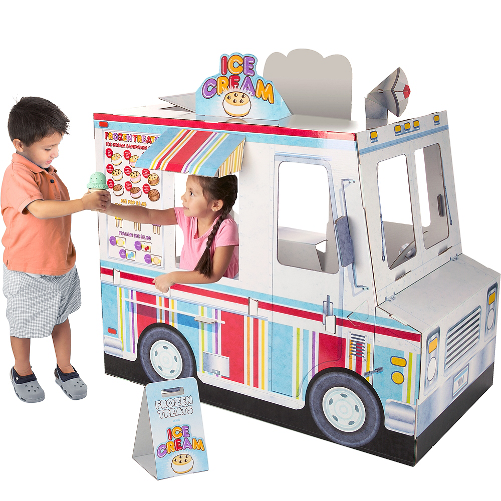 Melissa & Doug Food Truck Indoor Corrugate Playhouse Image #3