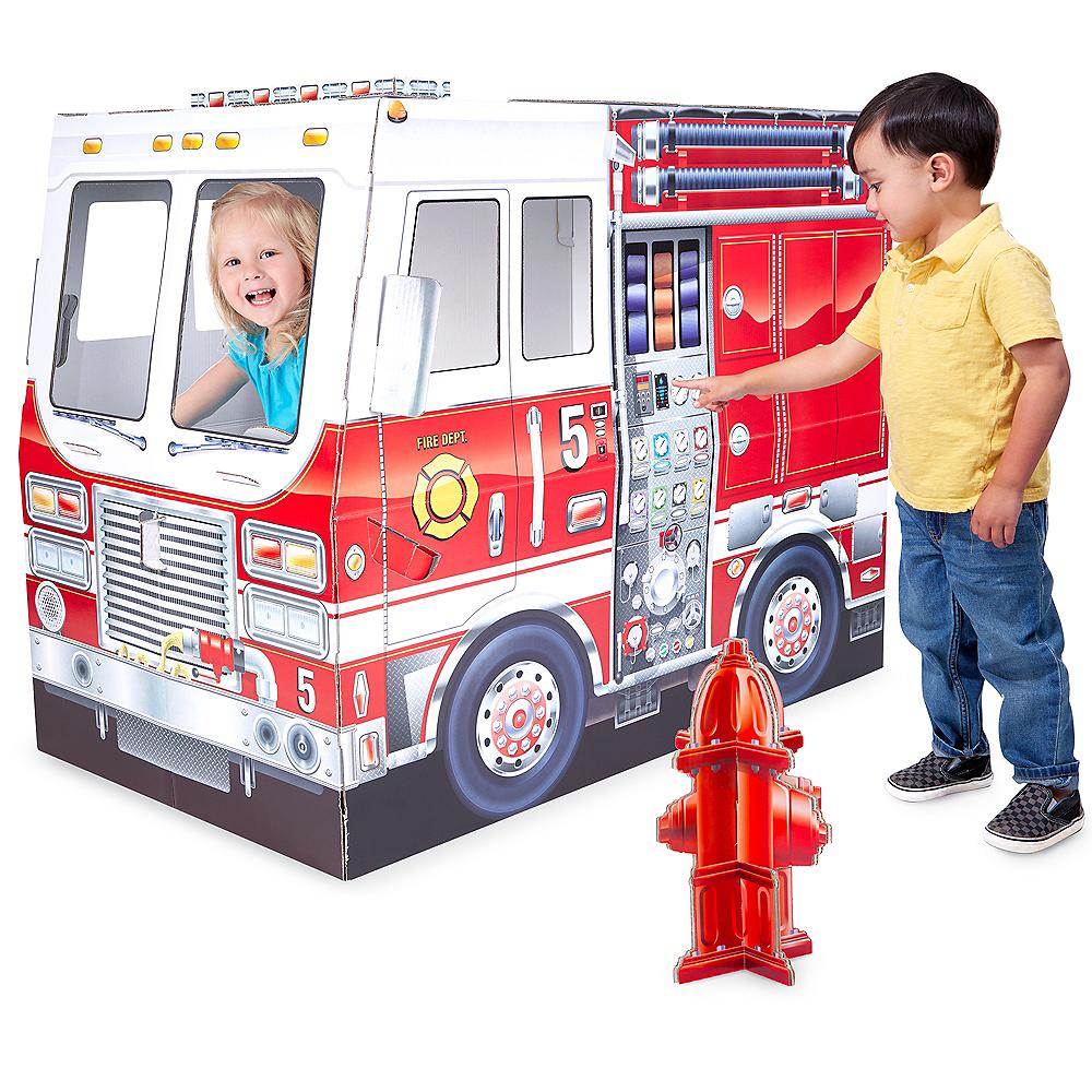 Melissa & Doug Fire Truck Indoor Playhouse Image #2