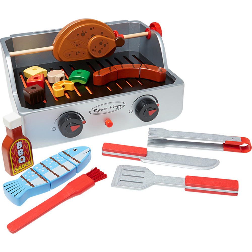Melissa & Doug Rotisserie and Grill Barbecue Play Food Set 24pc Image #1