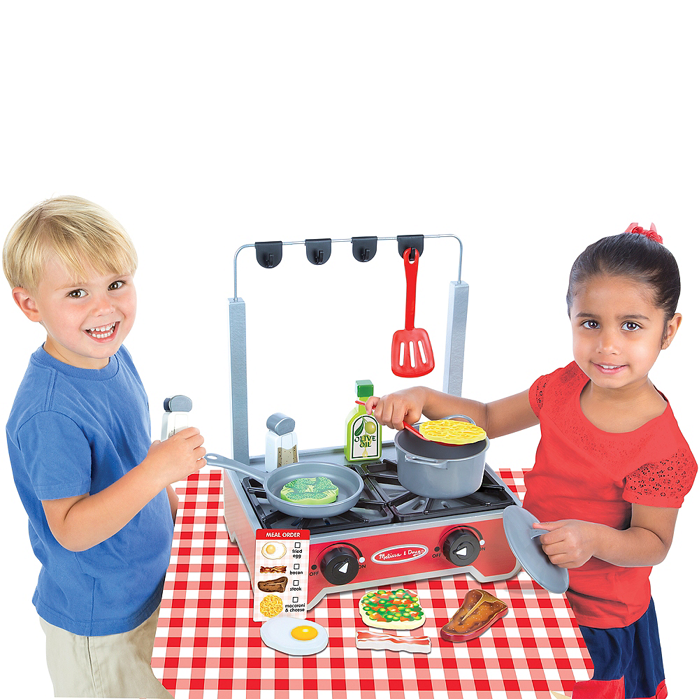 Melissa & Doug Deluxe Cooktop Set with Play Food, Pot & Pan Image #2
