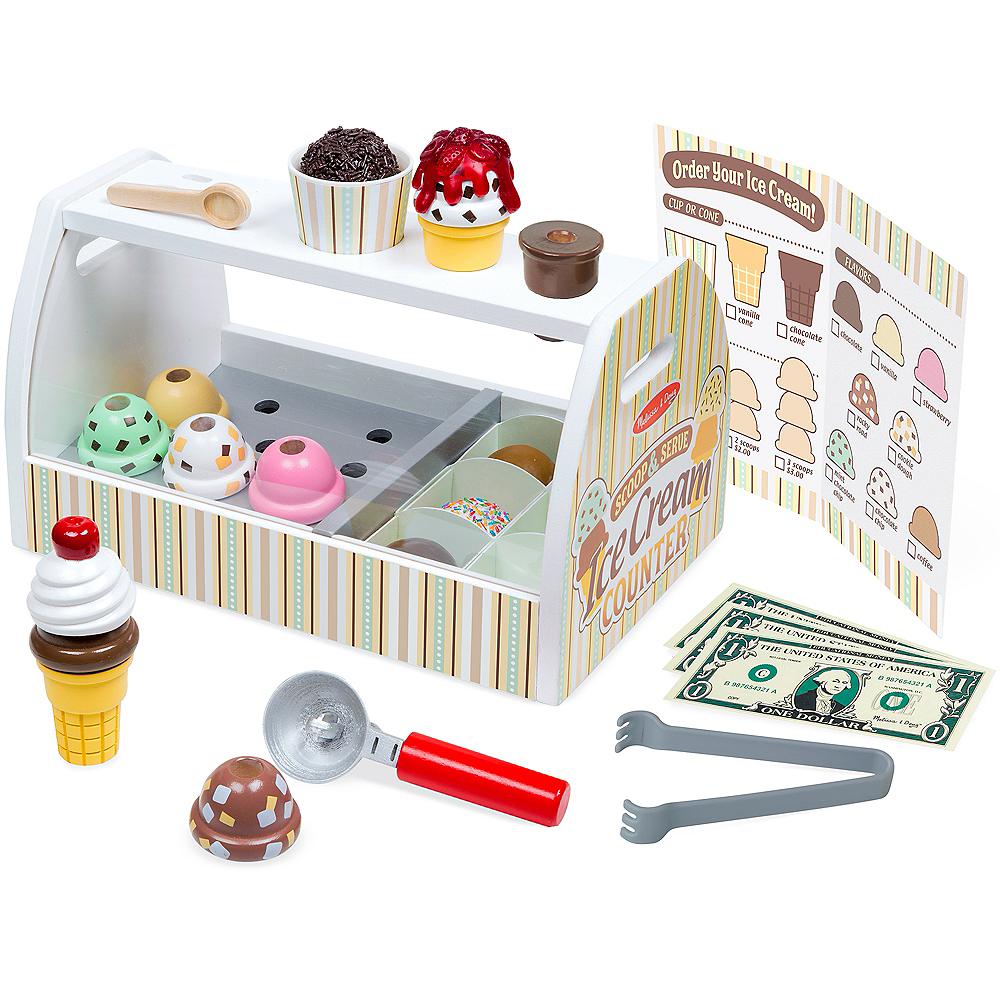 Nav Item for Melissa & Doug Scoop and Serve Ice Cream Counter 28pc Image #1