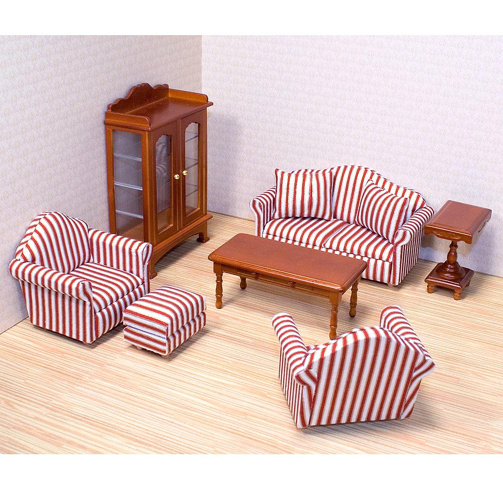 Melissa & Doug Classic Victorian Dollhouse Living Room Furniture 9pc Image #2