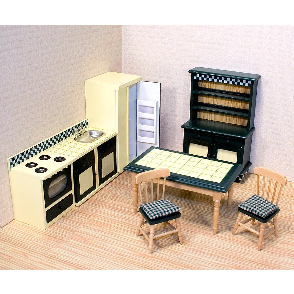 Melissa & Doug Classic Dollhouse Kitchen Furniture 7pc Image #2