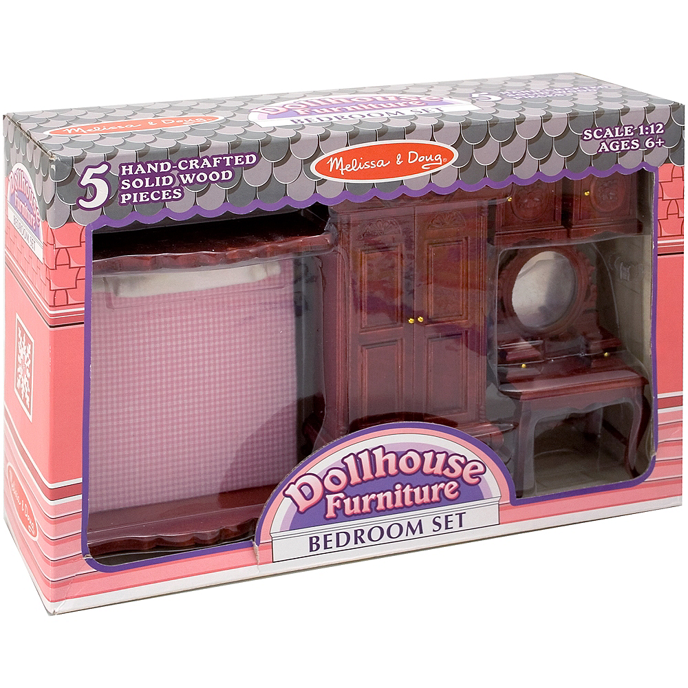 Melissa & Doug Classic Victorian Dollhouse Bedroom Furniture 5pc Image #1