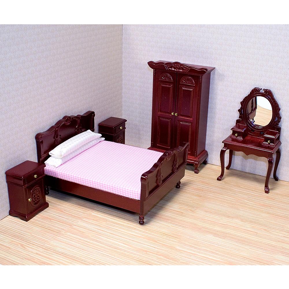 Melissa & Doug Classic Victorian Dollhouse Bedroom Furniture 5pc Image #2