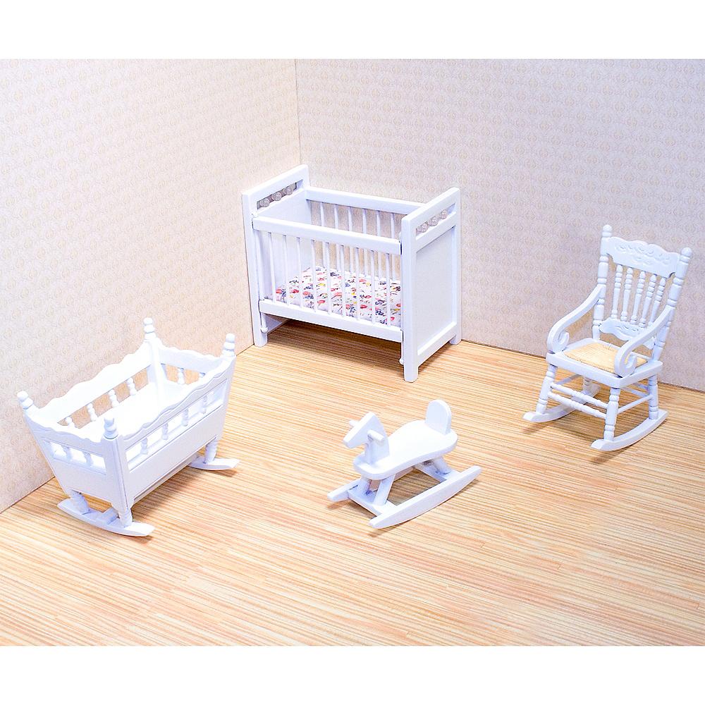 Melissa & Doug Classic Dollhouse Nursery Furniture 4pc Image #2