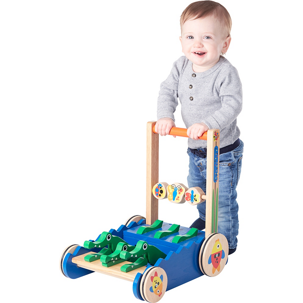 Melissa & Doug Deluxe Chomp and Clack Alligator Push Toy & Activity Walker Image #2