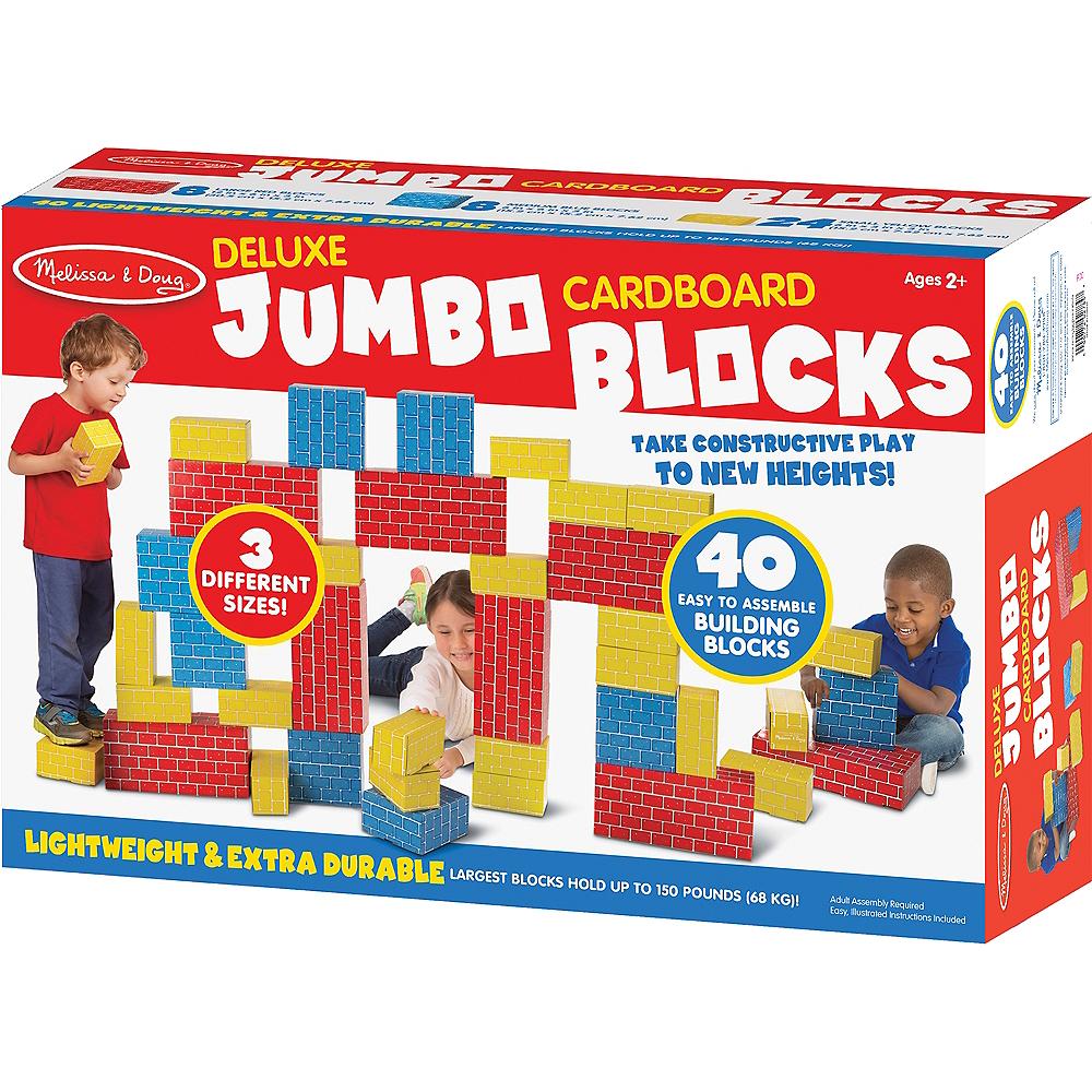 Melissa & Doug Jumbo Cardboard Building Blocks 40pc Image #1