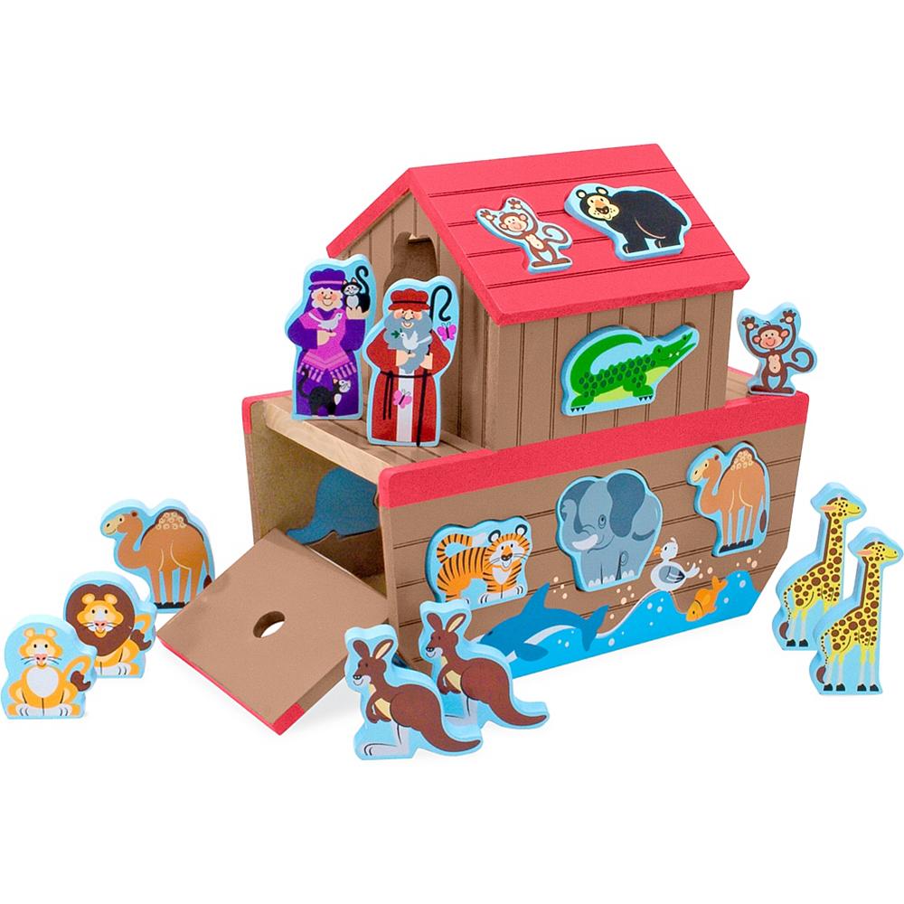 Melissa & Doug Noah's Ark Shape Sorter Educational Toy 28pc Image #1