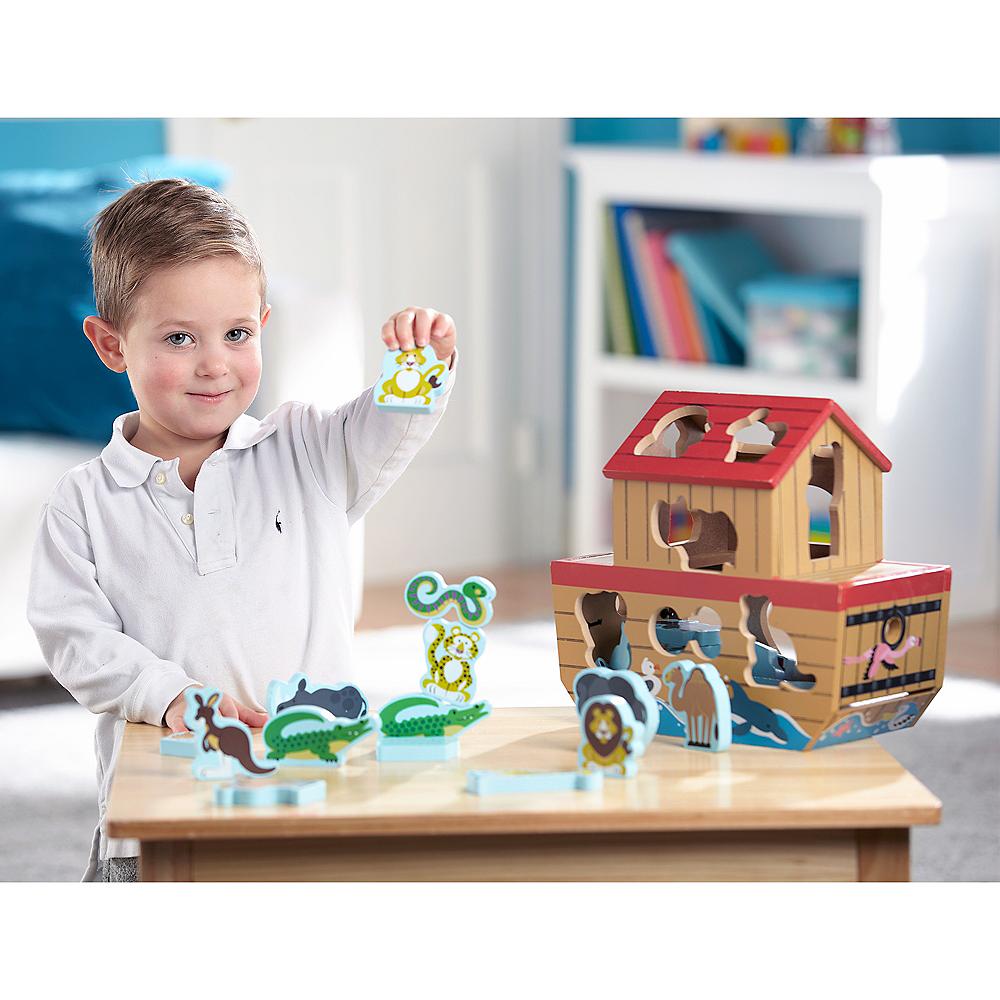 Melissa & Doug Noah's Ark Shape Sorter Educational Toy 28pc Image #2