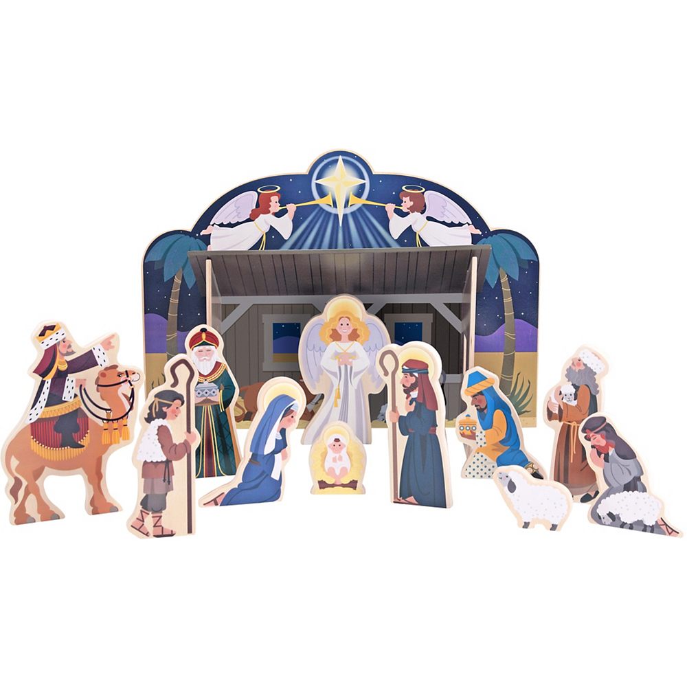 Melissa & Doug Classic Christmas Nativity Set Image #1
