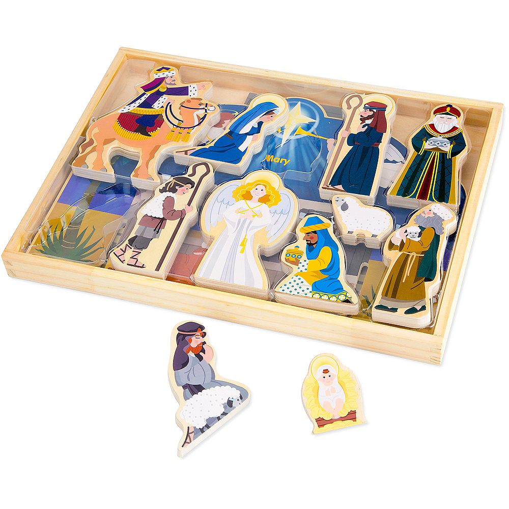 Melissa & Doug Classic Christmas Nativity Set Image #2