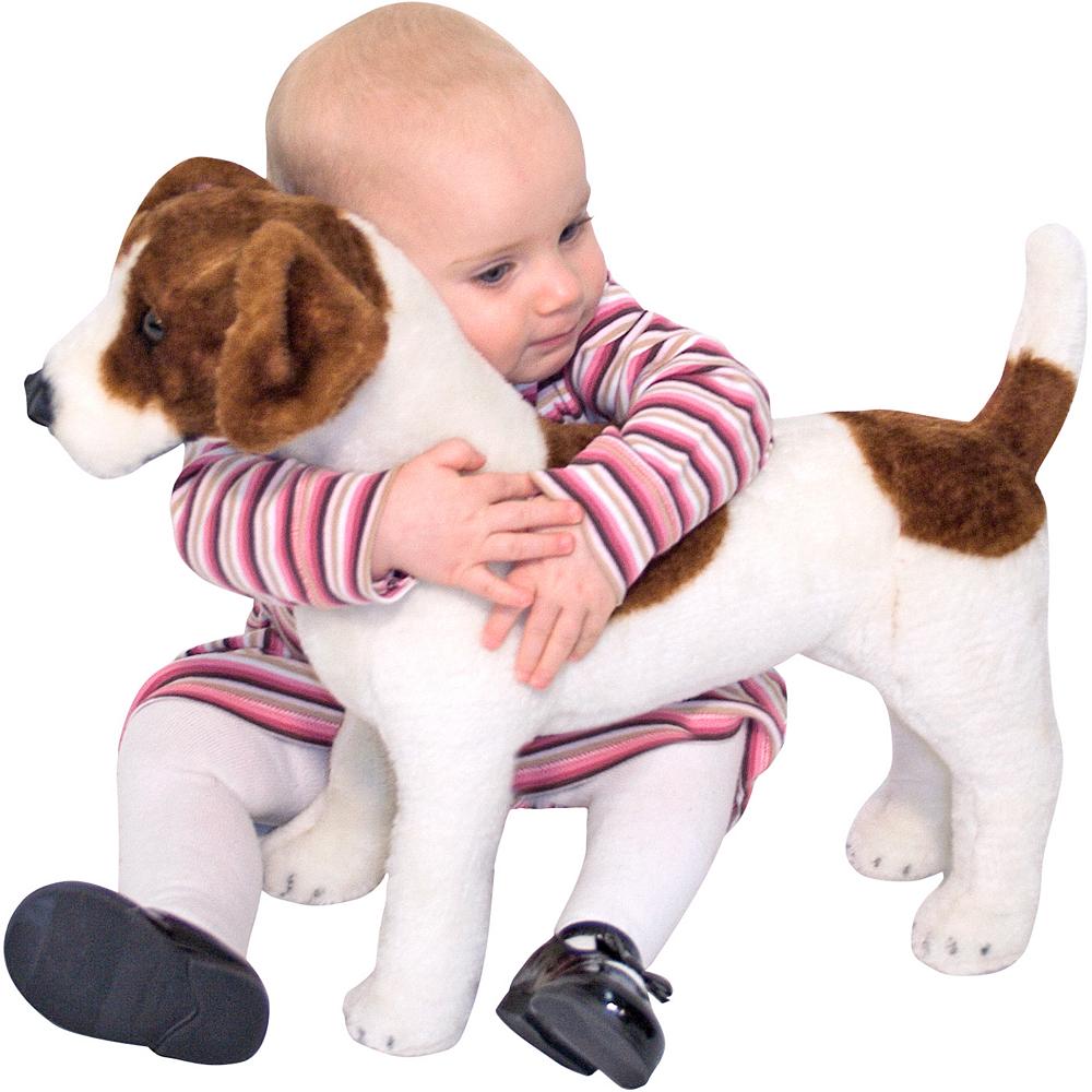 Melissa & Doug Giant Jack Russell Terrier Dog Plush Image #2