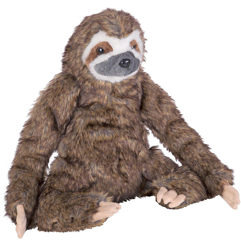 Melissa & Doug Lifelike Sloth Plush Image #1