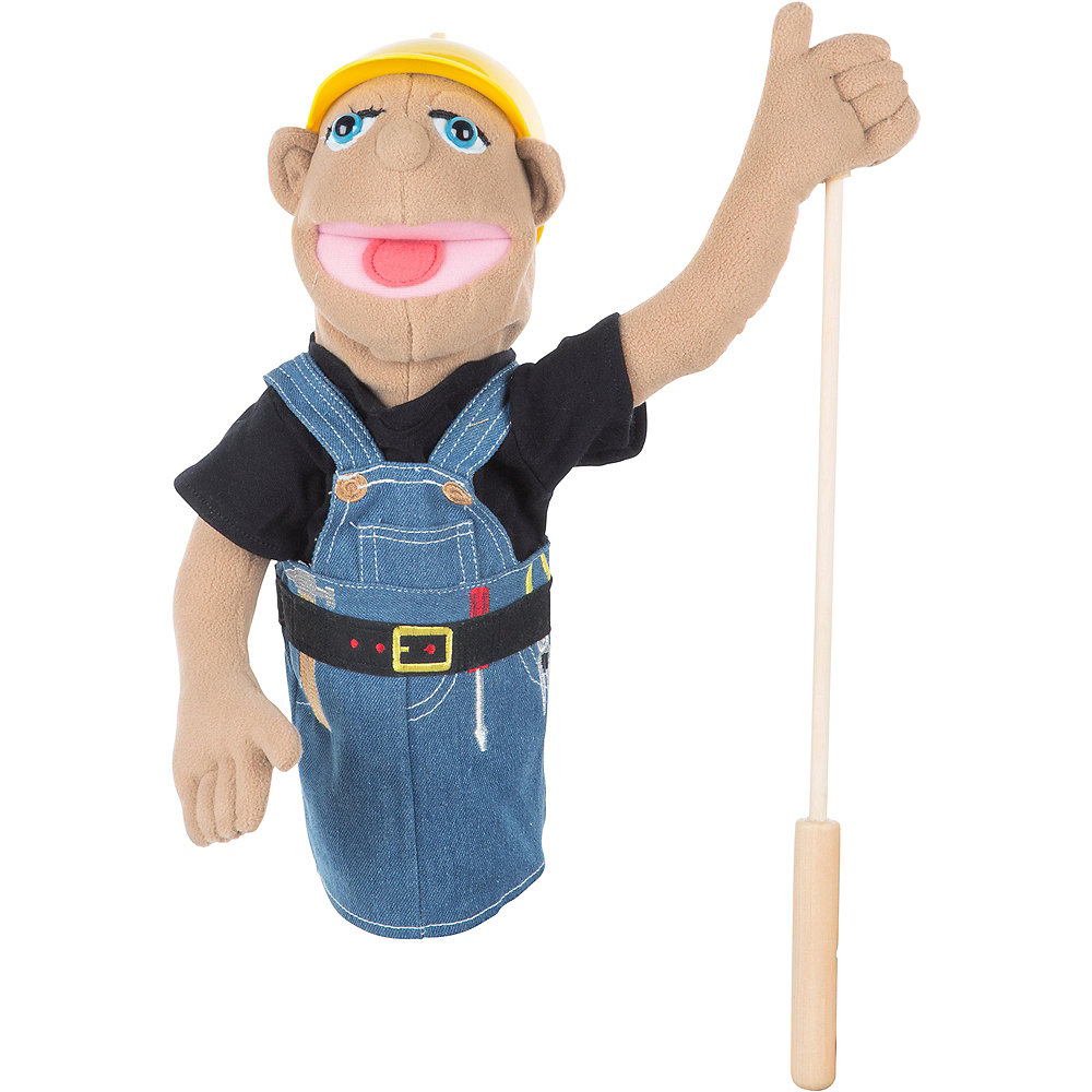 Melissa & Doug Construction Worker Puppet Image #1