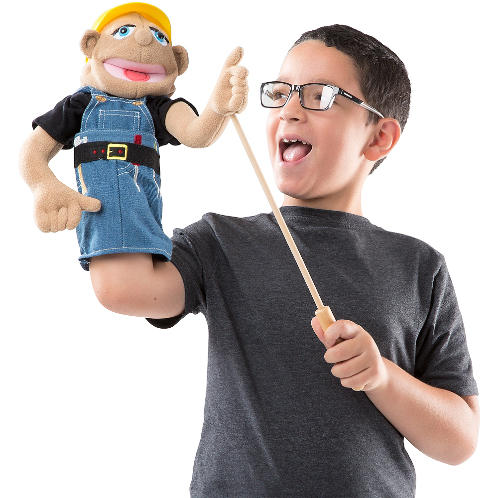 Melissa & Doug Construction Worker Puppet Image #2