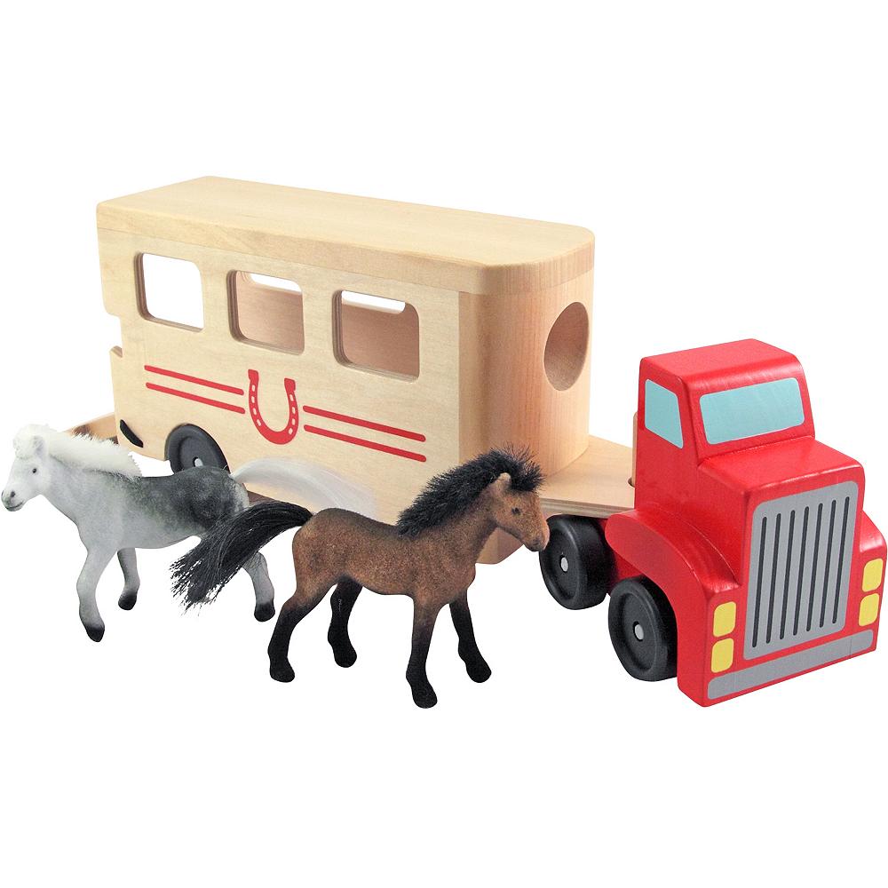 Melissa & Doug Horse Carrier Vehicle Play Set Image #1