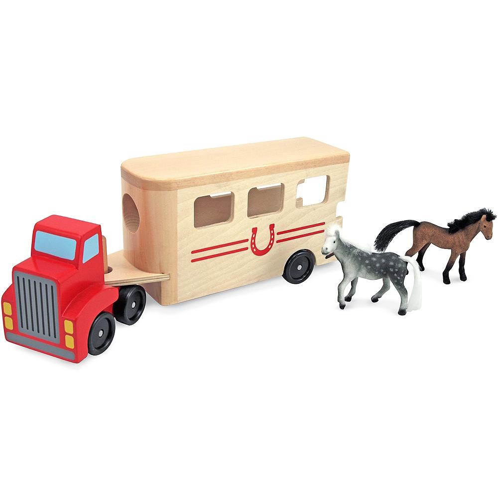 Melissa & Doug Horse Carrier Vehicle Play Set Image #2