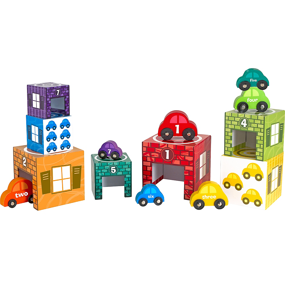 Melissa & Doug Nesting and Sorting Garages and Cars Image #1