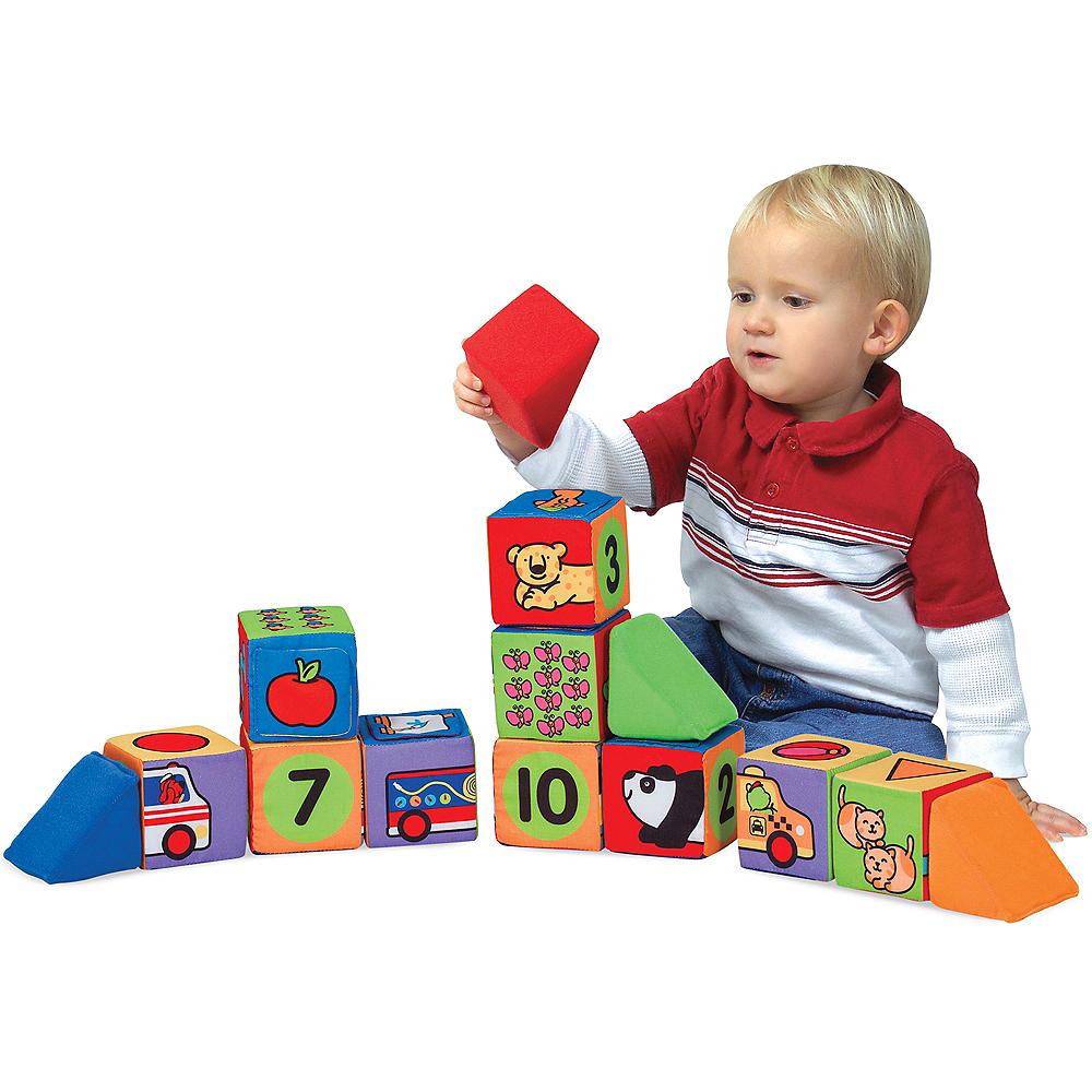 Melissa & Doug K's Kids Match & Build Soft Blocks Set Image #3