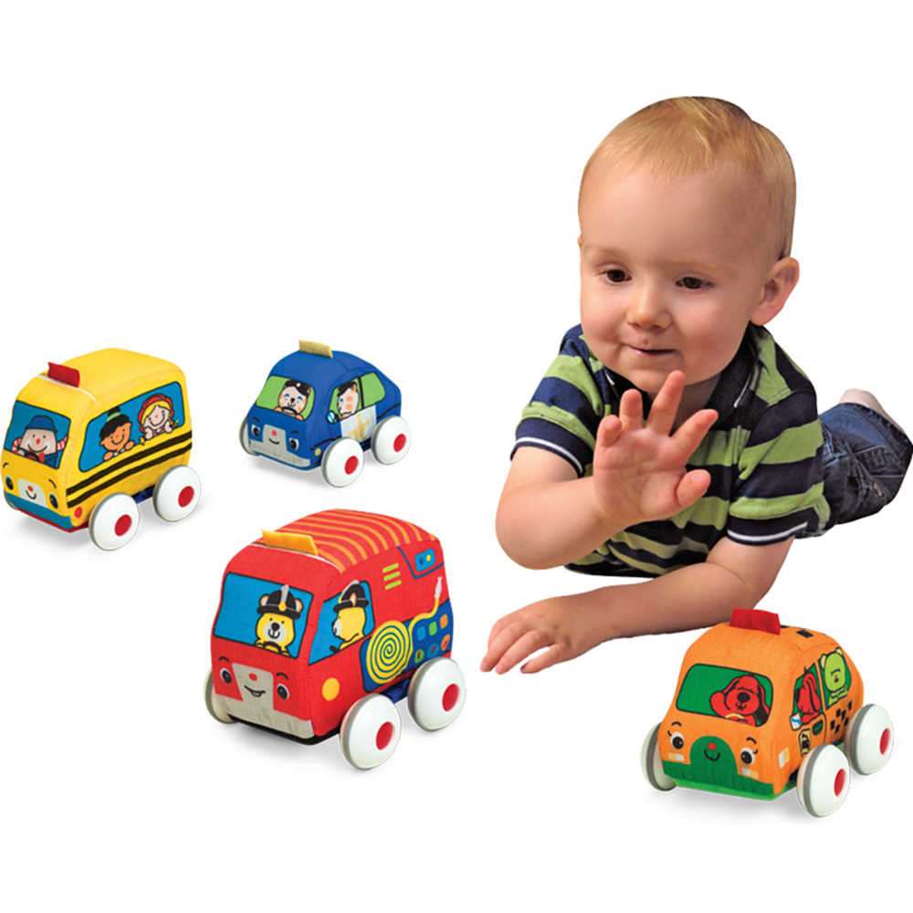 Melissa & Doug K's Kids Pull-Back Vehicle Set Image #2