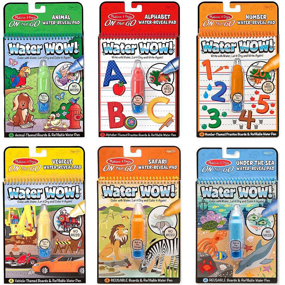 Melissa & Doug Water Wow! Reusable Colors with Pad 6ct Image #1