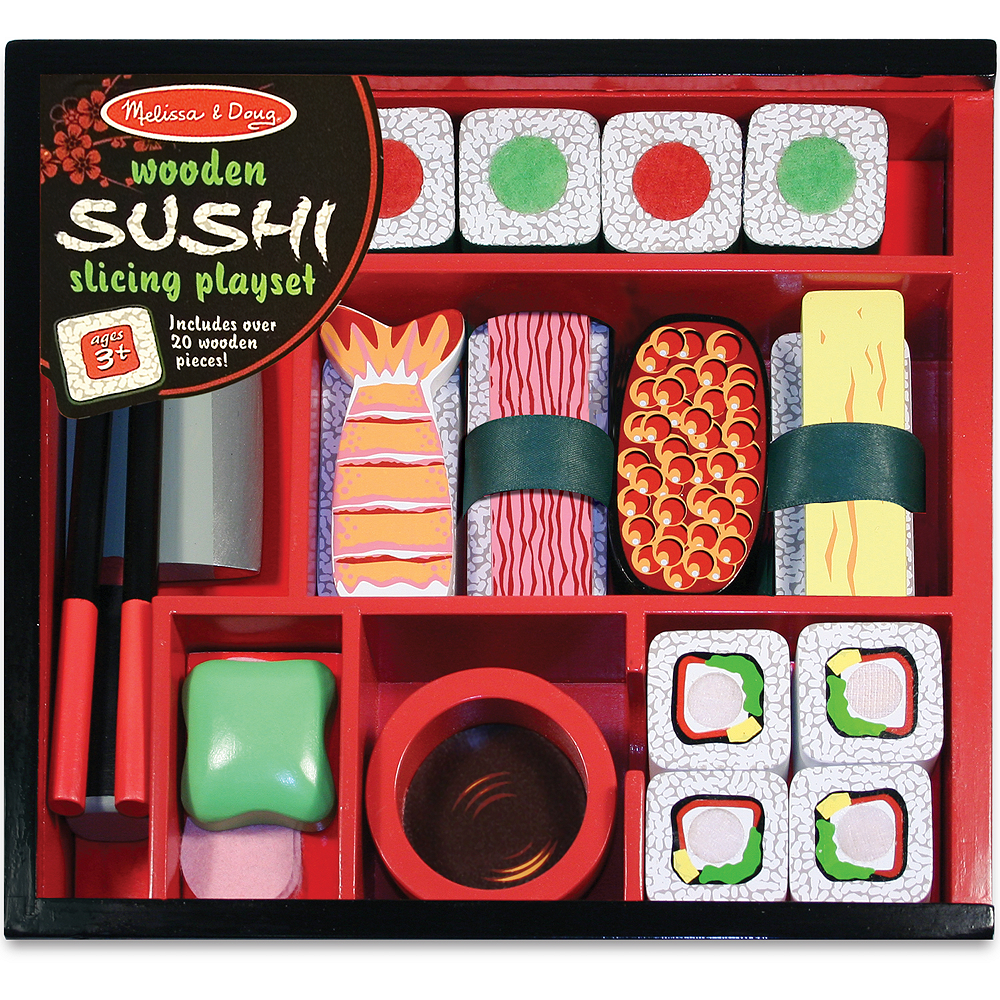 Melissa & Doug Sushi Slicing Play Food Set Image #1