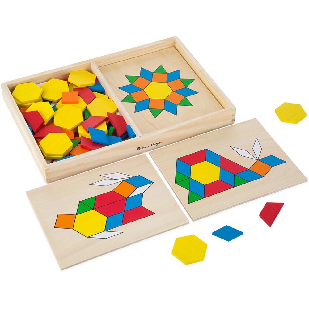Melissa & Doug Pattern Blocks and Boards Image #1