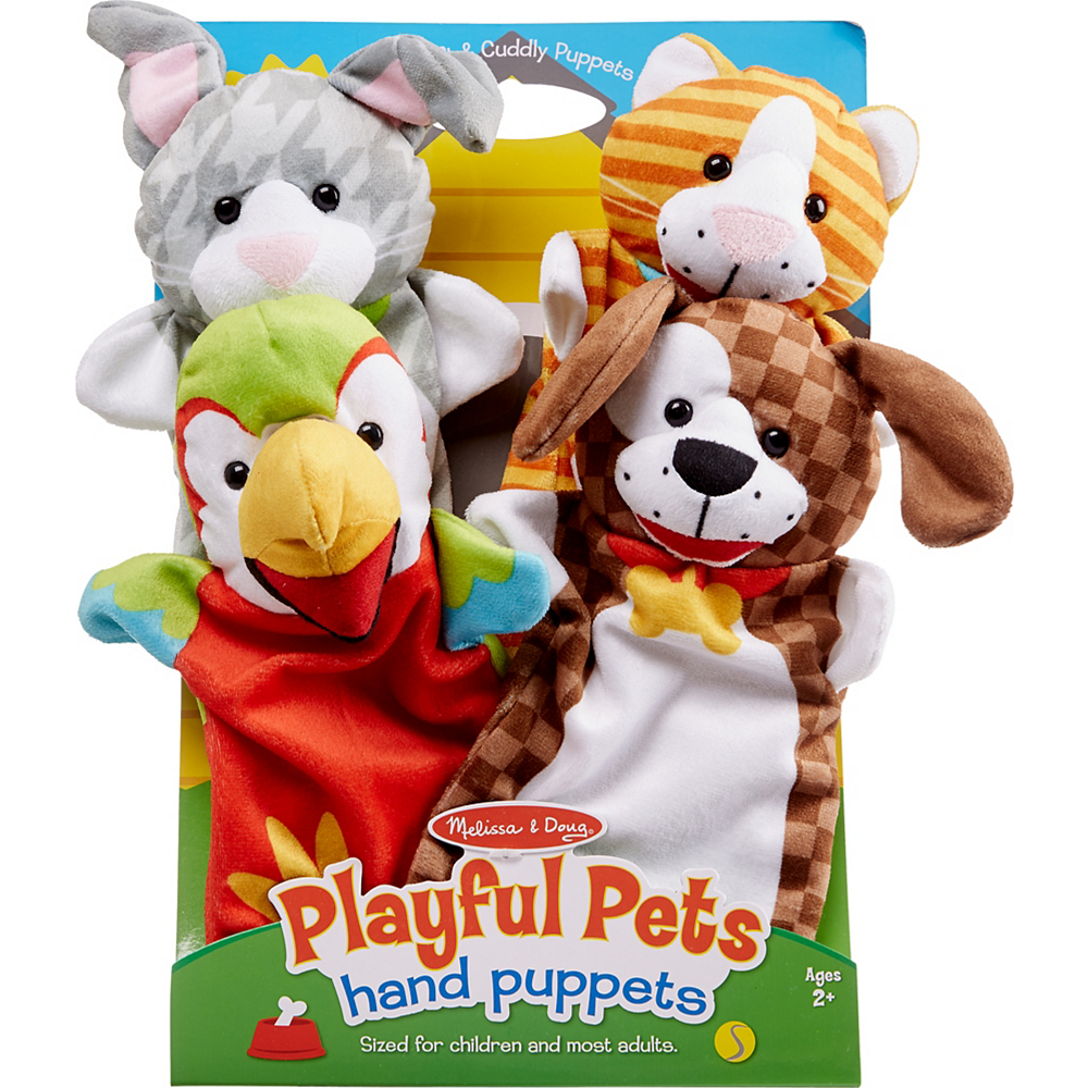 Nav Item for Melissa & Doug Playful Pets Hand Puppets 4pc Image #1