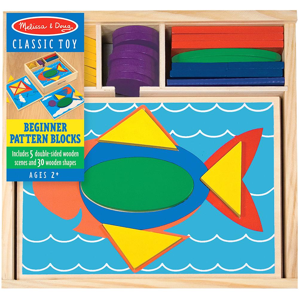 Melissa & Doug Beginner Pattern Blocks Educational Toy Image #1