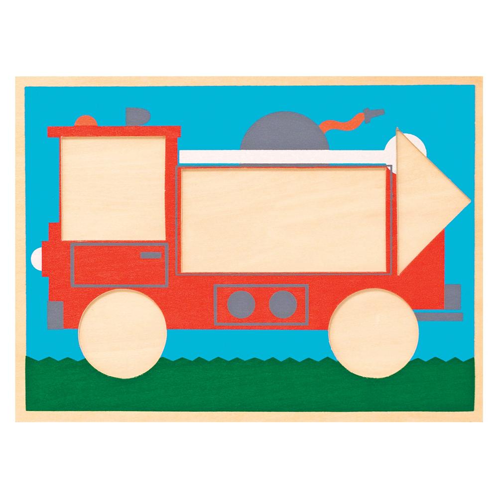 Melissa & Doug Beginner Pattern Blocks Educational Toy Image #2