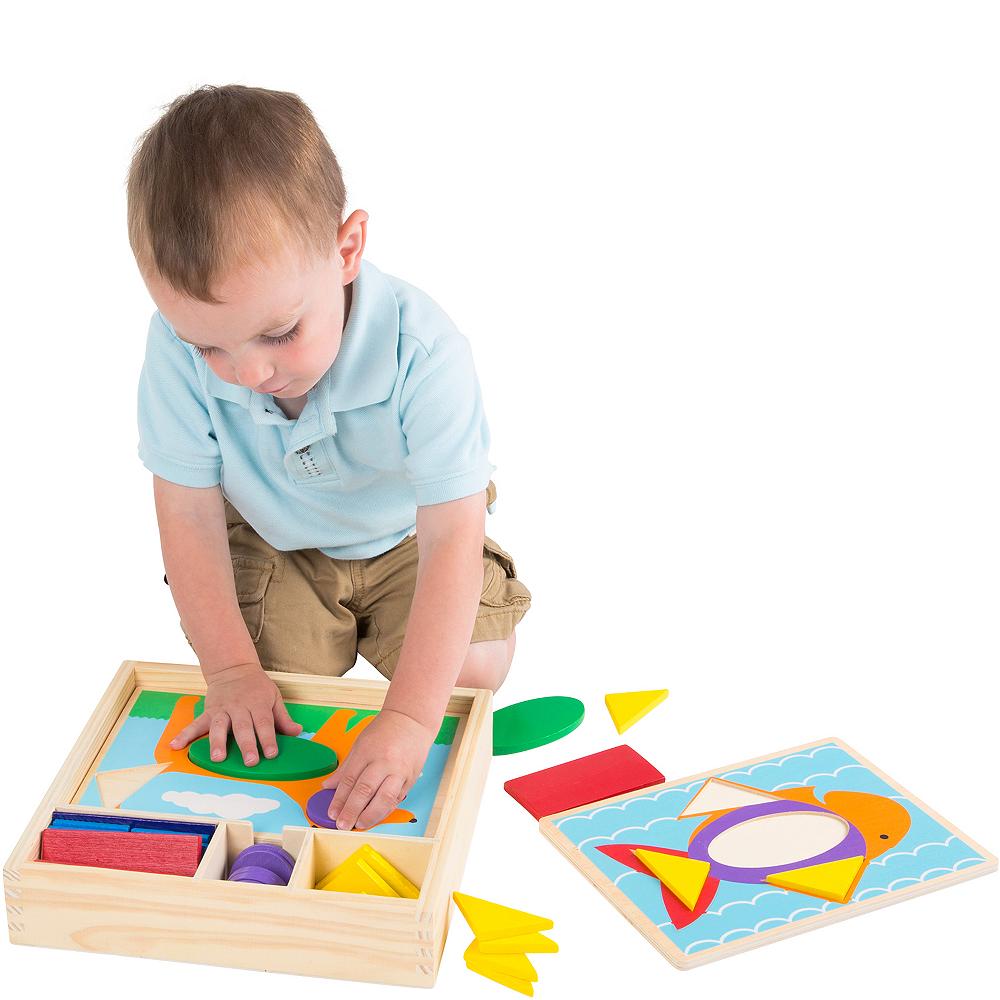 Melissa & Doug Beginner Pattern Blocks Educational Toy Image #3